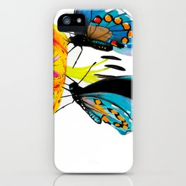 Butterflies & Lily iPhone Case