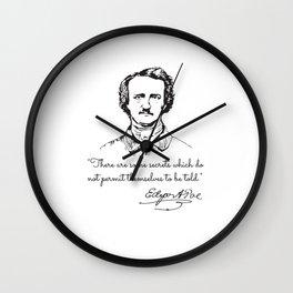 Edgar Allan Poe Vintage Wall Clock