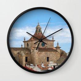 Aerial view of Church of Carmen and Mahon roofs - Mahon, Menorca Wall Clock