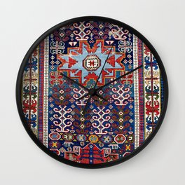 Kuba  Antique East Caucasus Rug Wall Clock