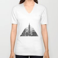 city V-neck T-shirts featuring New York City by Studio Laura Campanella