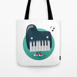 Piano Monster Tote Bag