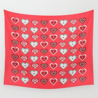 valentine Wall Tapestries featuring Valentine by Heaven7
