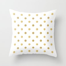 Goldie Dots Throw Pillow