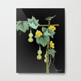 Squash Vine and Bird Metal Print