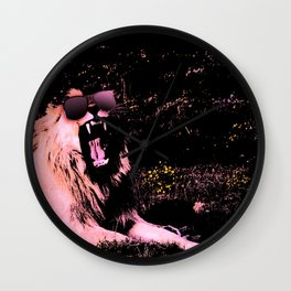Cool Lion Chillin Wall Clock