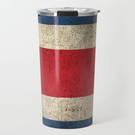 Old and Worn Distressed Vintage Flag of Costa Rica Travel Mug