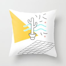 Cactus and confetti Throw Pillow