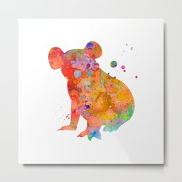 Colorful Koala Metal Print