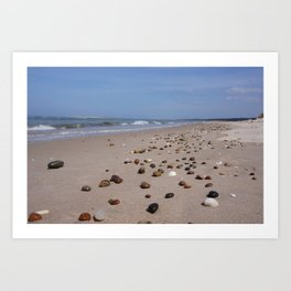 Shiney Stoney Beach - Nairn Scotland - Stones Art Print