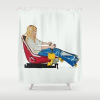 gamer Shower Curtains featuring Gamer Gurl by Blanc Canvas Studios