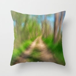 Spinning Sycamore Trail Throw Pillow