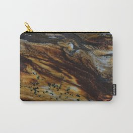 Patterns of an old wood Carry-All Pouch