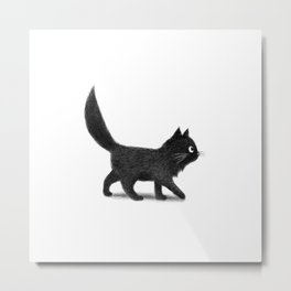 Creeping Cat Metal Print