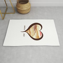 Heart of Earth Day Rug