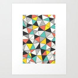 Triangles pattern Art Print
