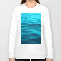 water Long Sleeve T-shirts featuring Water : Teal Tranquility by 2sweet4words Designs