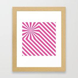 Stripes explosion - Pink Framed Art Print