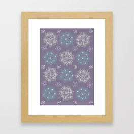 Lilac Clusters Framed Art Print