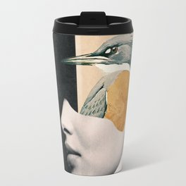 collage art / bird Travel Mug
