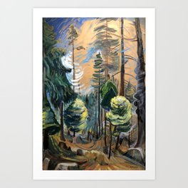Emily Carr - Old Forest - Canada, Canadian Oil Painting - Group of Seven Art Print