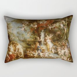The Feast of Venus by Peter Paul Rubens Rectangular Pillow