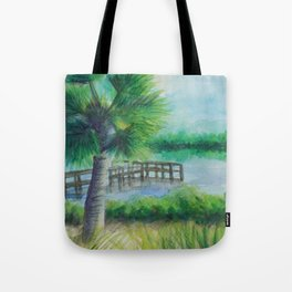 Dusk on the River MM160216h Tote Bag