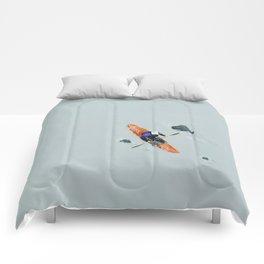 Solitude- Kayaker Comforters