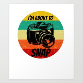 camera for people who like camera and photography  Art Print