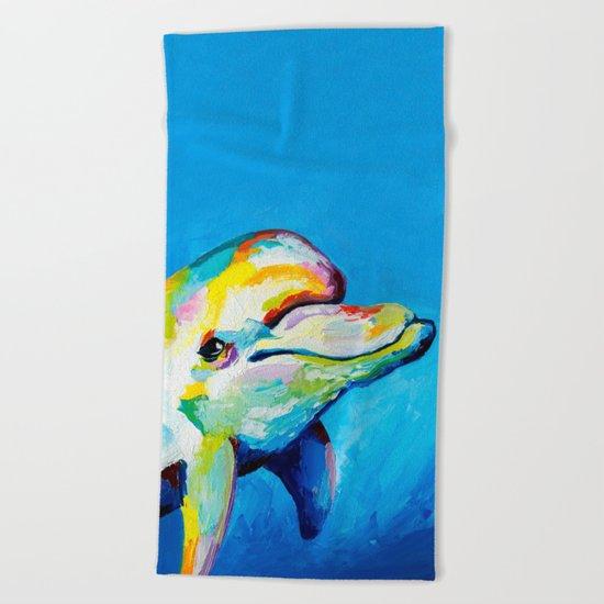Dolphin smile Beach Towel