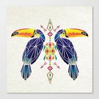 toucan Canvas Prints featuring toucan by Manoou