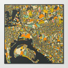 SAN DIEGO MAP Canvas Print