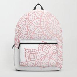 Intricate Rose Gold Mandala Backpack