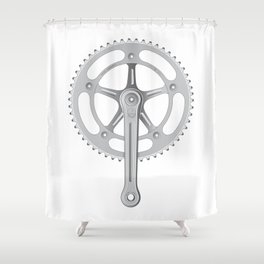 Campagnolo Track Chainset, 1974 Shower Curtain