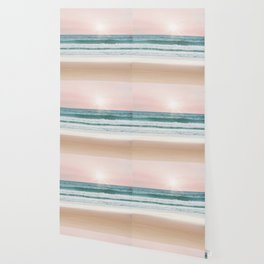 Pastel Beach and Sea Vibes Wallpaper