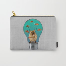 Bulb with Mouse and goldfishes Carry-All Pouch