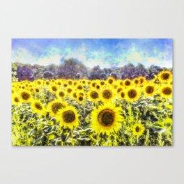 Sunflower Fields Of Summer Dreams Canvas Print