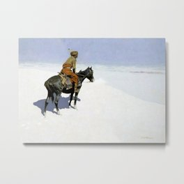 "Frederic Remington Western Art ""The Scout"" Metal Print"
