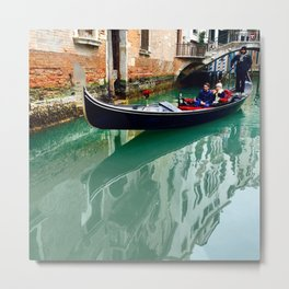 Gondola Reflection Metal Print
