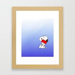 sweet snoopy  Framed Art Print