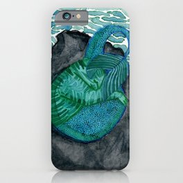 Sleeping purrmaid iPhone Case
