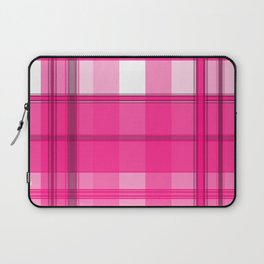 Shades of Pink and White Plaid Laptop Sleeve