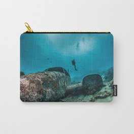 shipwreck and diver Carry-All Pouch
