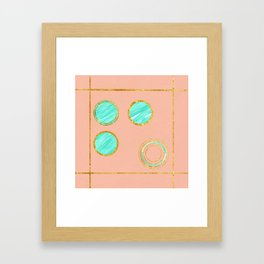 Under everything is gold Framed Art Print