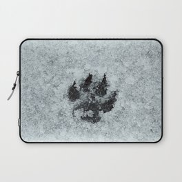 Printed In Snow Laptop Sleeve