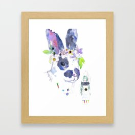Gaia and her Bunny Framed Art Print