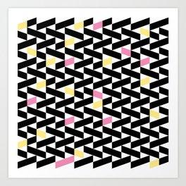 Black Pattern  Art Print