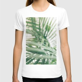 Tropical palm leaves with shadow in hd photography T-shirt