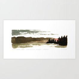 Cowichan Lake, Vancouver Island Art Print