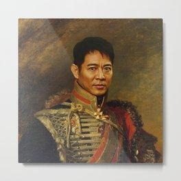 Jet Li - replaceface Metal Print